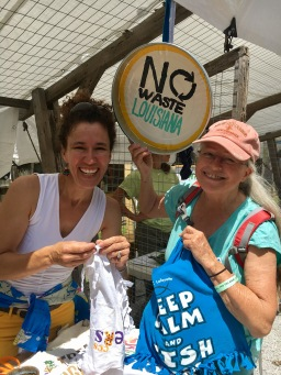 Sister efforts for Zero Waste in Lafayette - T-shirt bags!